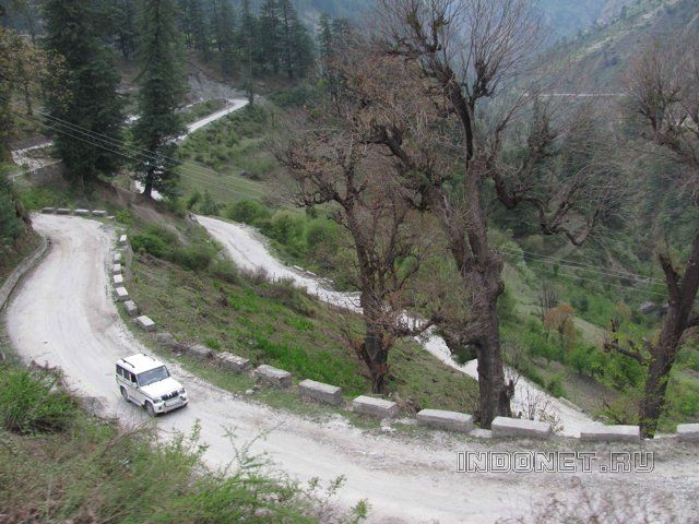 Долина Парвати, серпантин в горах