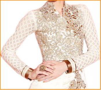 Сказочные свадебные платья - белое с вышивкой и золотом