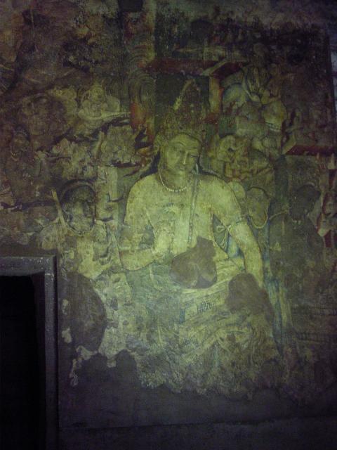 Аджанта, фреска