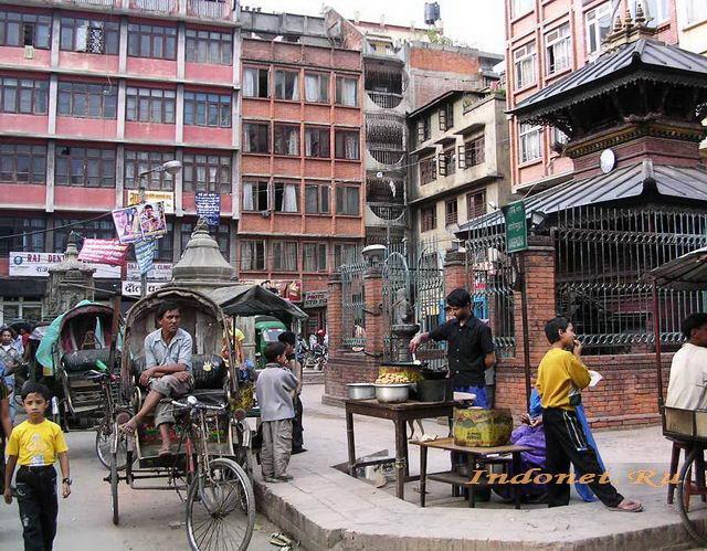 Рикша в Катманду