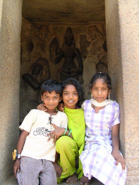 Мамаллапурам, дети
