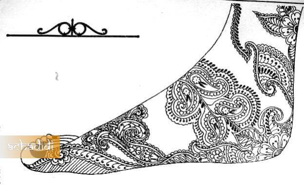 индийский рисунок для ног