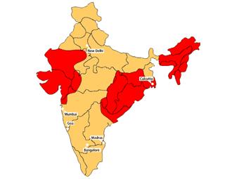 карта эндемичных районов для малярии