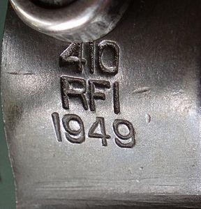 Еще одно ишапурское клеймо (Rifle Factory Ishapore) и год выпуска ружья. Фото Ю.Максимова