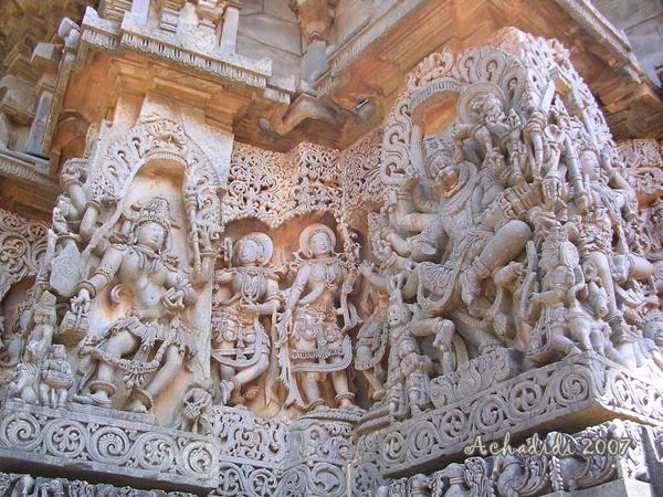 Скульптура храма в Халебиде