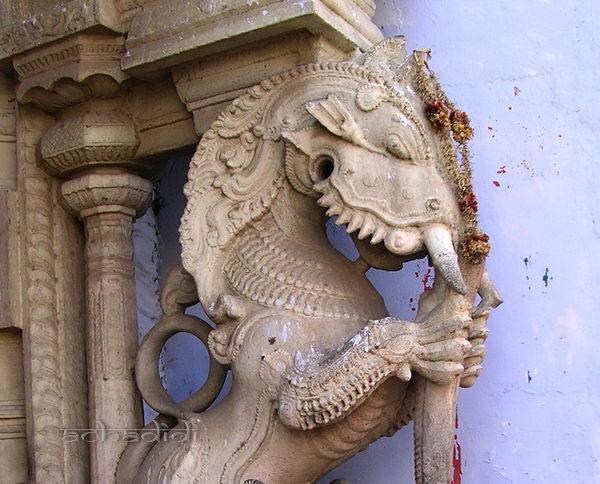 Индийский яли - дракон из Каньякумари.
