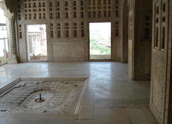 покои Шаха Джахана в красном форте Агры