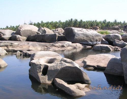 Хампи, природа, каменный садик