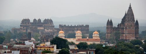 Орчха, вид на дворцы и храмы