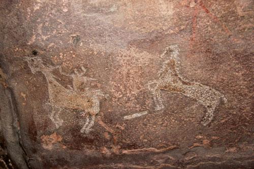 Наскальные рисунки в Бхимбетке