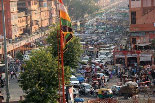 Движение на улицах Джайпура