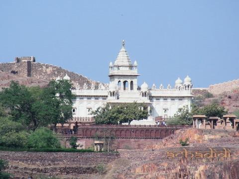 Джасвант Тхада, вид из форта Джодхпура