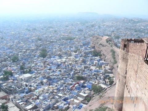Джодхпур - голубой город, вид из форта