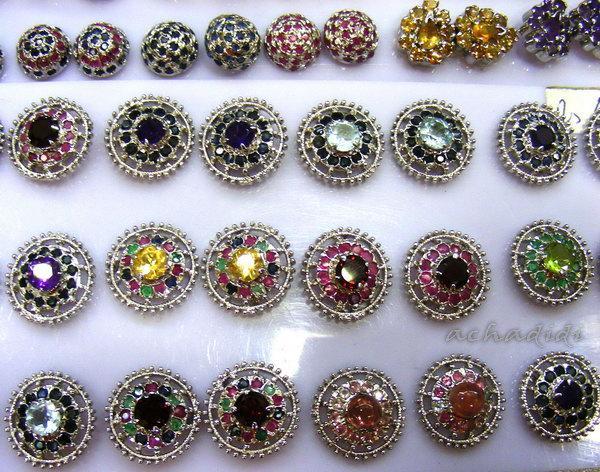 Серьги с камнями из Дели