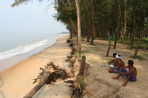 Пляж Каппад в 12 км к северу от Кожикоде - место высадки Васко да Гамы