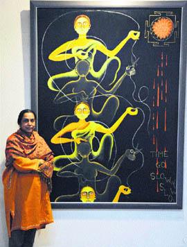 Арпана Каур и ее работы. http://www.tribuneindia.com/2011/20110206/spectrum/main1.htm