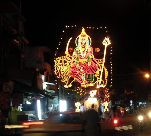 Первый день наваратри в Мамаллапураме