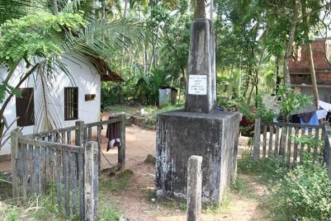 Памятник португальскому мореплавателю в деревне Каппад
