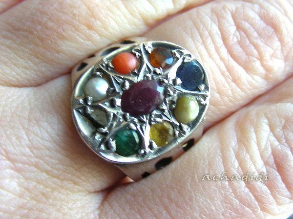 кольцо наваратна (навратна) из дели