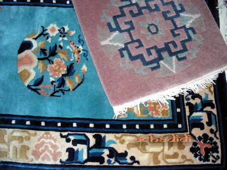 Тибетский ковер и непальский коврик на сиденье
