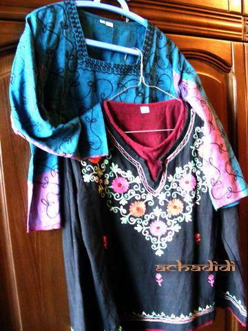 Непальские домотканые расшитые рубашки