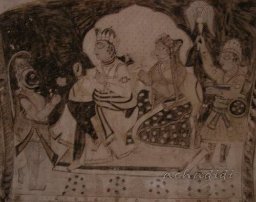 Росписи храма Лакшми в Орче