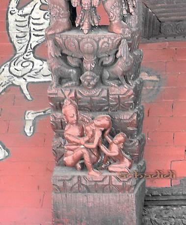 Пашупатинатх, Храм Кали, майтхуна