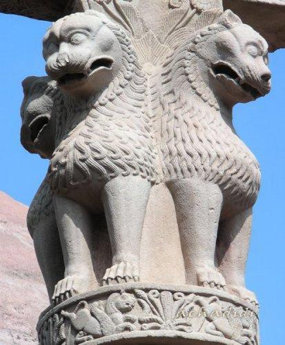 Львиная капитель Санчи