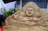 Песочная скульптура для фестиваля Наваратри, фото Ashoke Chakrabarty