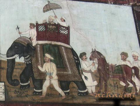 Фреска из летнего дворца султана в Шрирангапатнаме