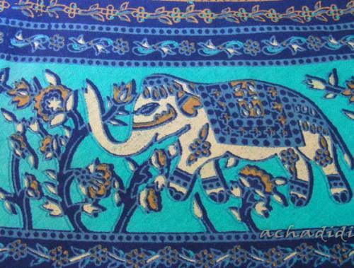 Белый слон, фрагмент индийской одежды