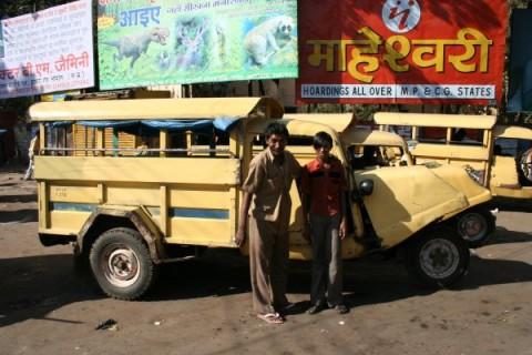 Темпо в городе Бхопал, штат Мадхья-Прадеш
