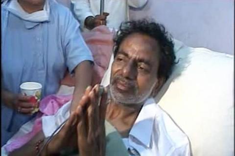 Чандрашекра Рао во время голодовки протеста, длившейся  11 дней