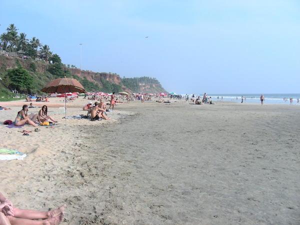 Фото скального пляжа Варкалы