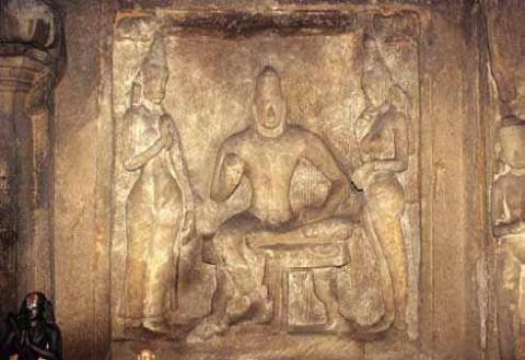 Портрет короля Нарасимхавармана, пещера Адивараха, Мамаллапурам