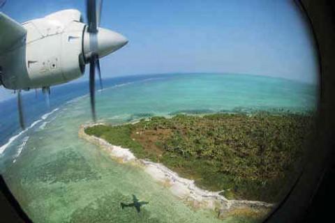 Вид с воздуха на остров Агатти.