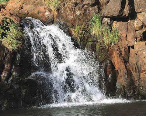 Водопад Лингмала, Махаблешвар в штате Махараштра.